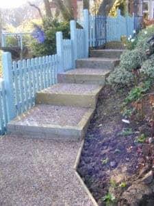 Garden Stairs Installation